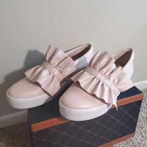 Micheal Kors Pink Ruffle Shoes